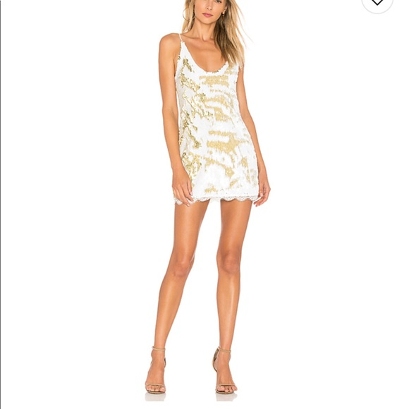 f2c1348a Free People Dresses & Skirts - Free People Seeing Double Sequin Slip Dress  Ivory